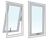 Image double glazed awning windows