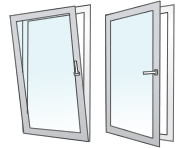 Image double glazed tilt and turn windows